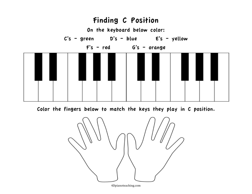 worksheet Keyboarding Worksheets free printables c position worksheets 4dpianoteaching com finding colors