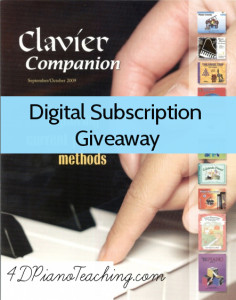 Clavier Companion Digital Subscription Giveaway