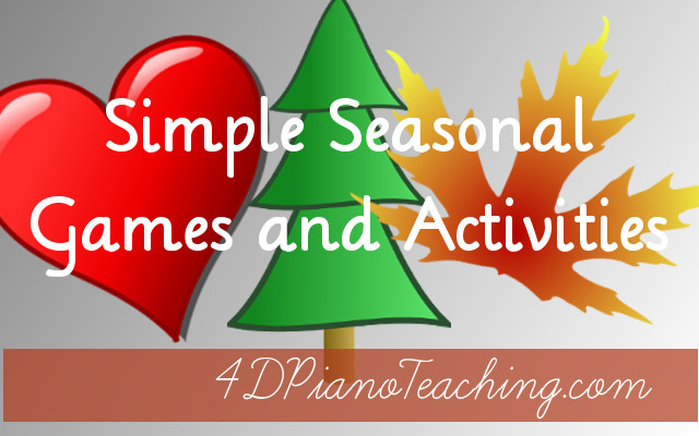 seasonal games and activities