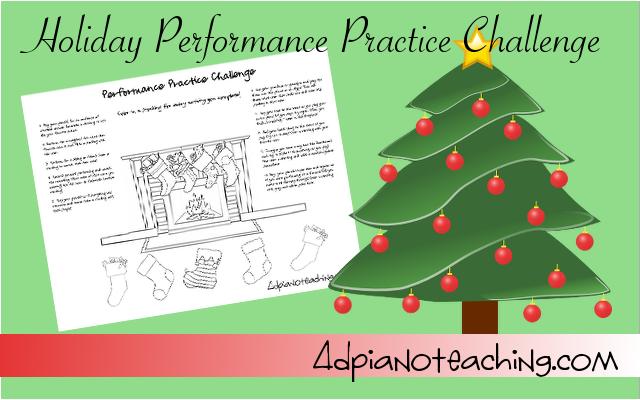 Performance Practice Challenge – Free Printable!