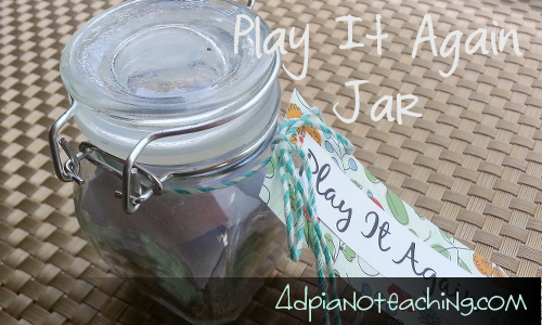 """Play It Again"" Jar"