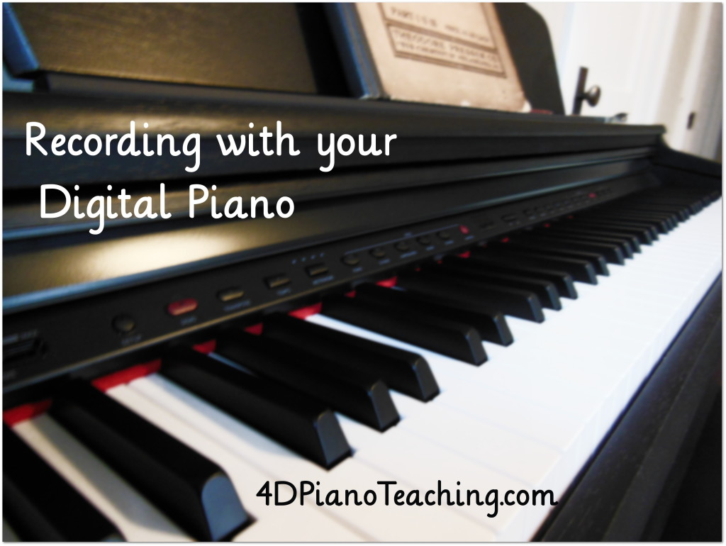 recording with your digital piano