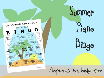 Summer Piano Bingo