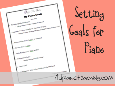 Setting Goals for Piano Lessons