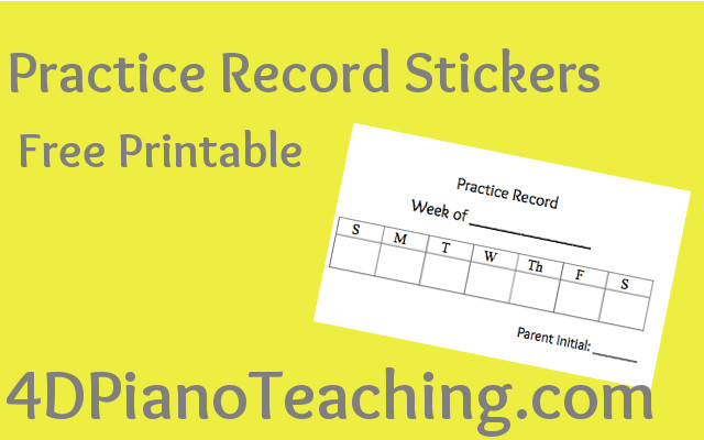 Practice Record Stickers – Free Printable