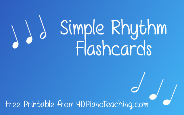Simple Rhythm Flashcards – Free Printable