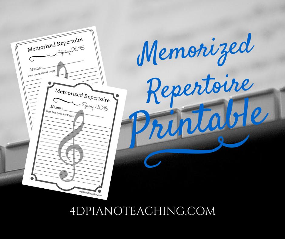 Memorized Repertoire Lists