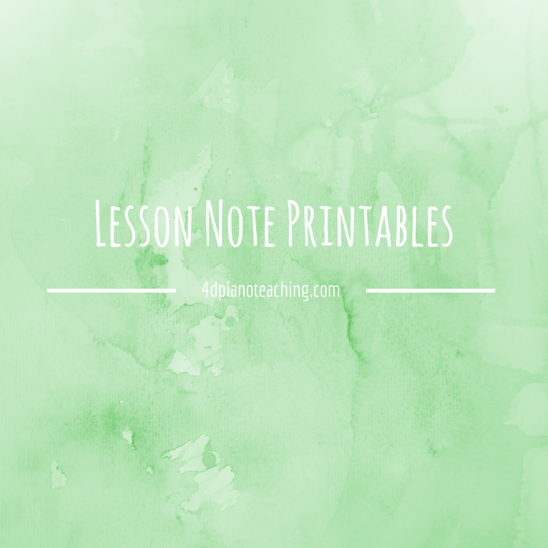 Lesson Note Printables