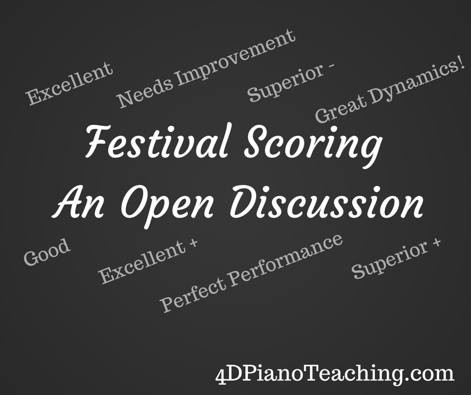 Festival Scoring  - An Open Discussion