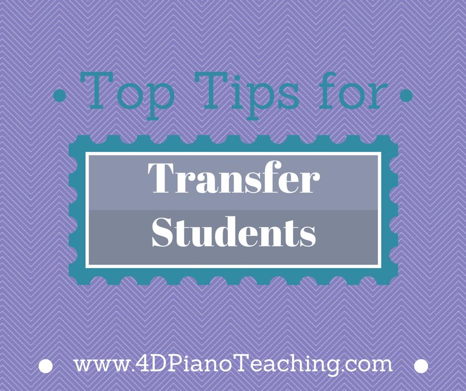 Transfer Student Tips