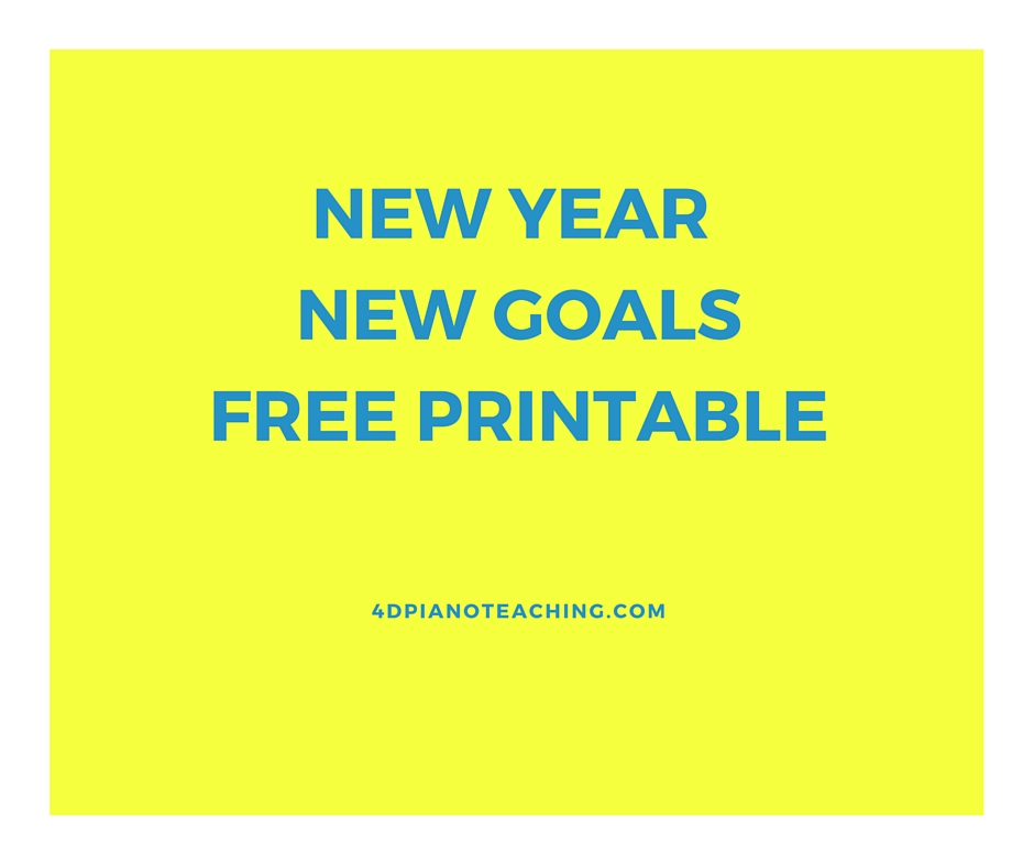 New Year – New Goals – Free Printable