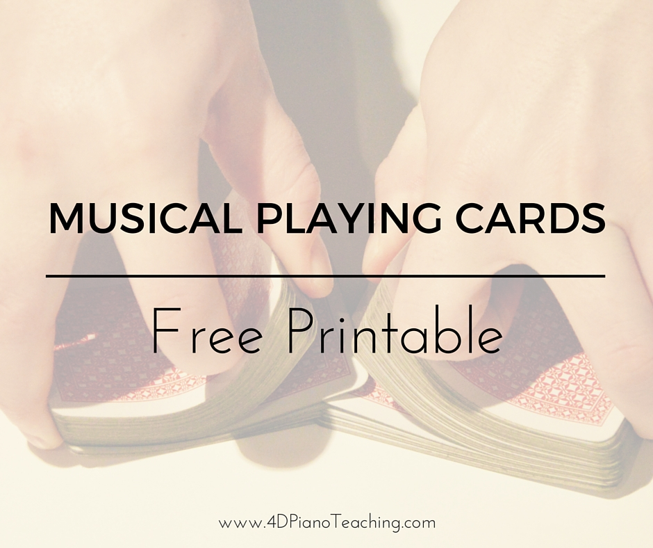 graphic about Printable Go Fish Cards named Musical Participating in Playing cards -
