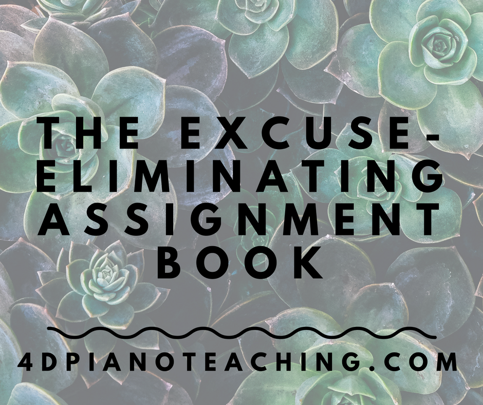 The Excuse-eliminating Assignment Book