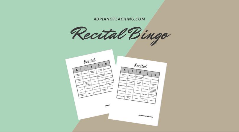 Recital Bingo
