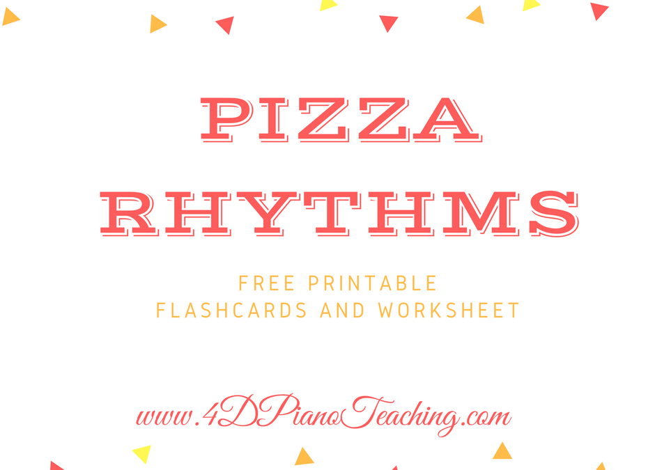 Pizza Rhythms – Free printable flashcards and worksheet