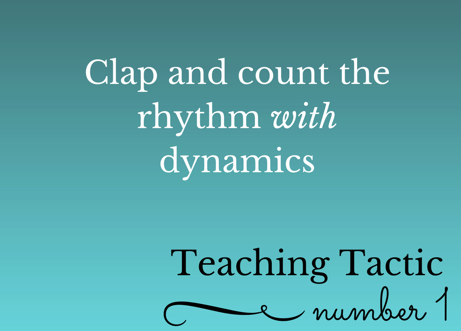 Tuesday Teaching Tactic #1
