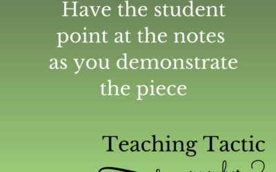 Tuesday Teaching Tactic #2
