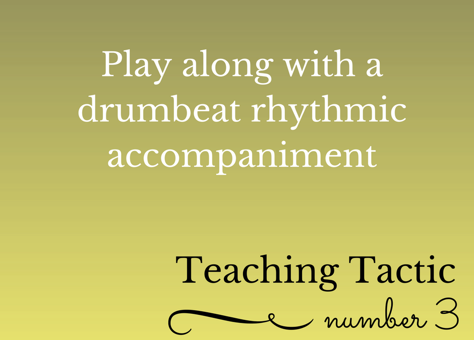 Tuesday Teaching Tactic #3