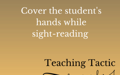 Tuesday Teaching Tactic #4