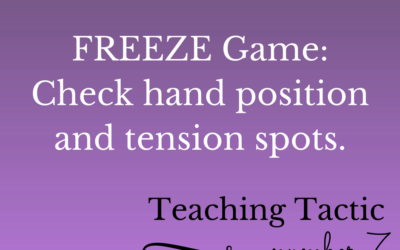 Tuesday Teaching Tactic #7