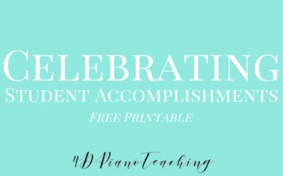 Celebrating Student Accomplishments – Free Printable