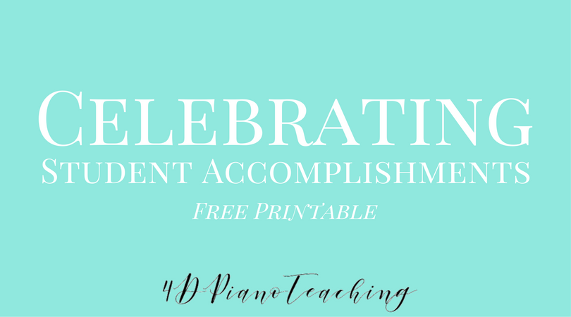 Celebrating Student Accomplishments – Free Printable