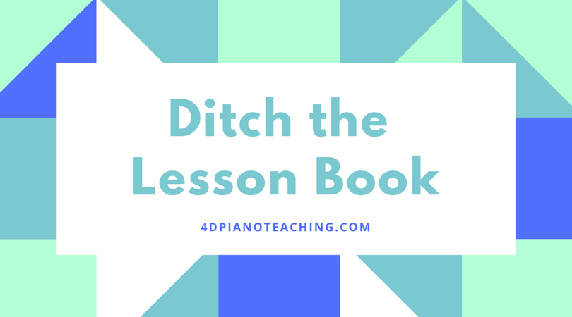 Ditch the Lesson Book