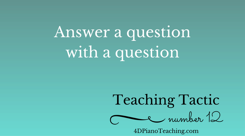 Tuesday Teaching Tactic #12