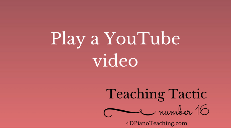Tuesday Teaching Tactic #16