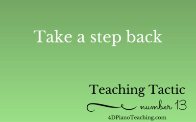 Tuesday Teaching Tactic #13