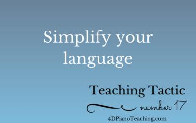 Teaching Tactic #17