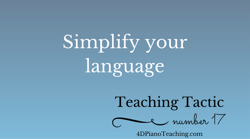 Teaching Tactic #17