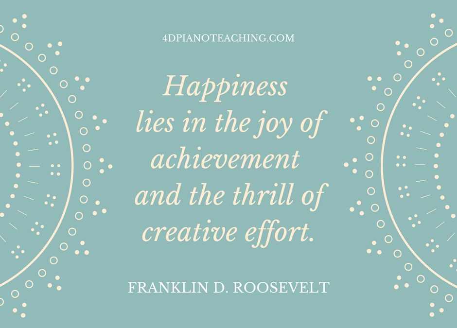 Happiness in Teaching
