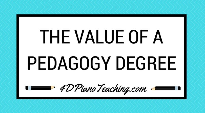 The Value of a Pedagogy Degree
