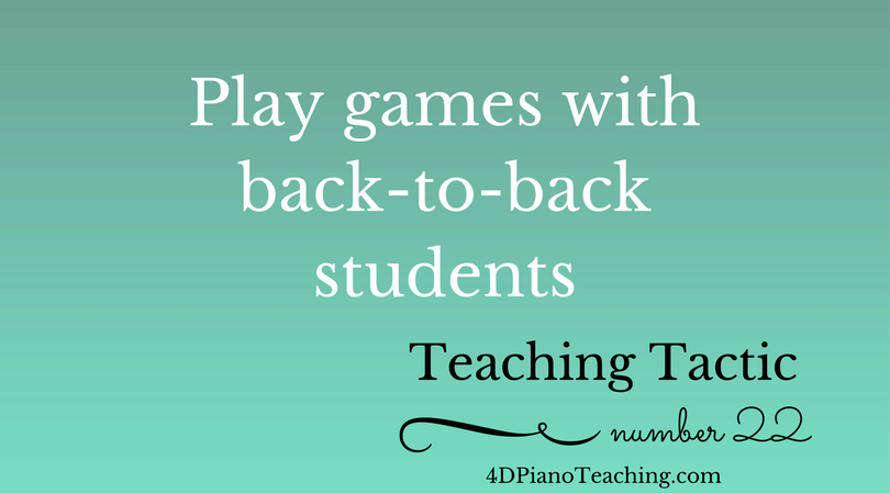Tuesday Teaching Tactic #22