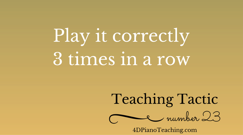 Tuesday Teaching Tactic #23