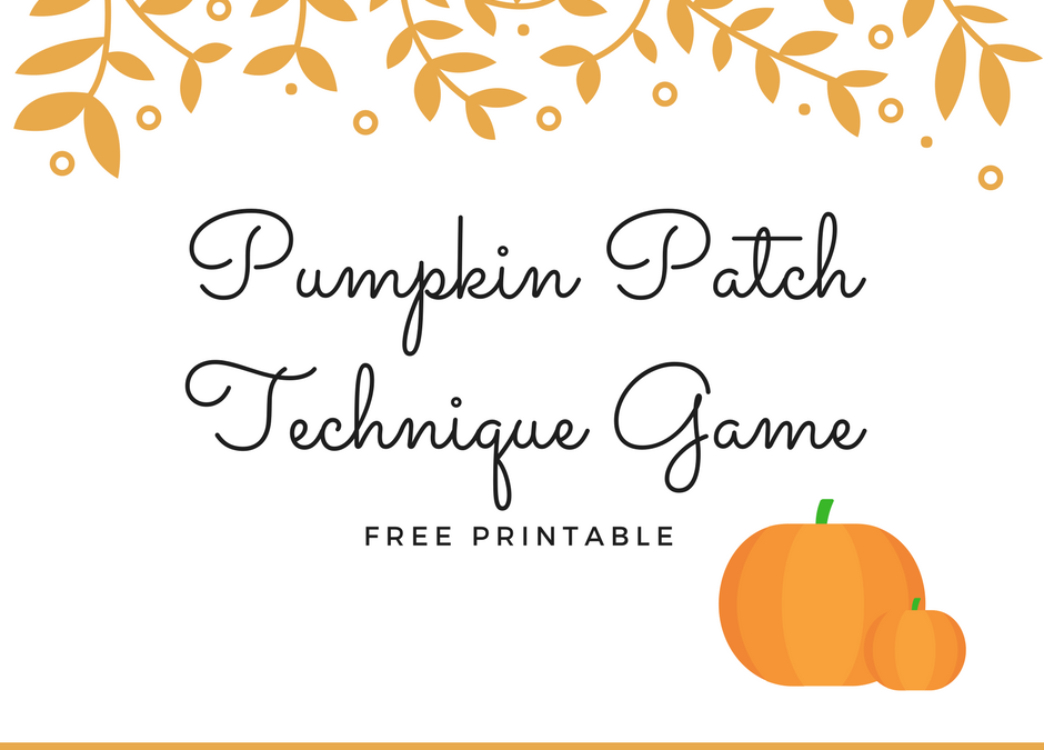 Pumpkin Patch Technique Game – Free Printable