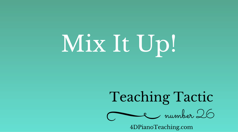 Tuesday Teaching Tactic #26
