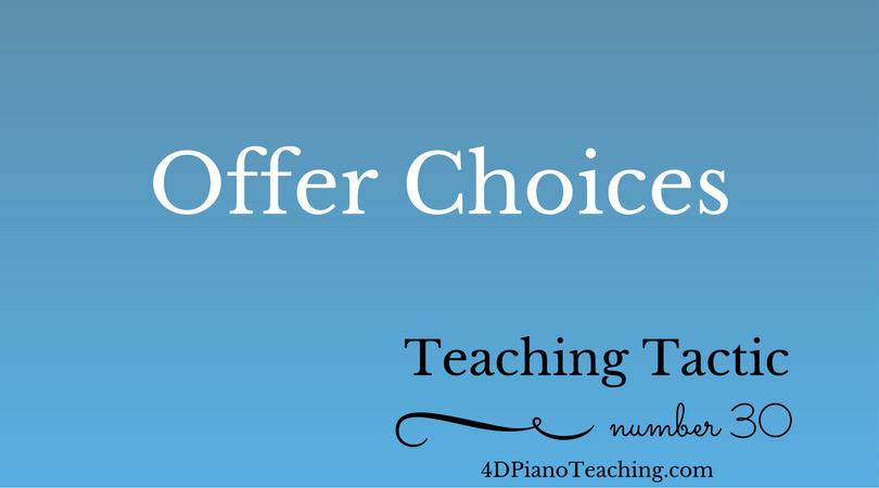 Teaching Tactic #30