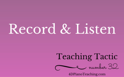 Tuesday Teaching Tip #32