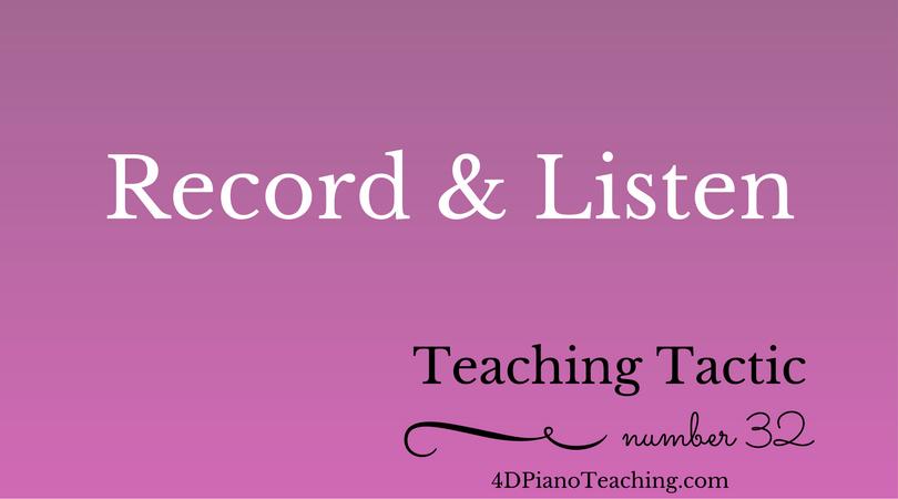 Tuesday Teaching Tip #32