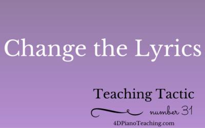 Teaching Tactic #31