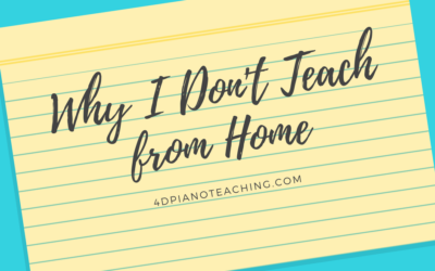 Why I DON'T Teach from Home