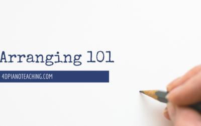 Beginner Arranging 101