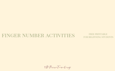 Finger Number Activities