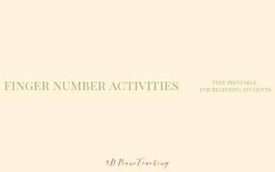 Finger Number Activities