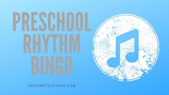 Preschool Rhythm Bingo