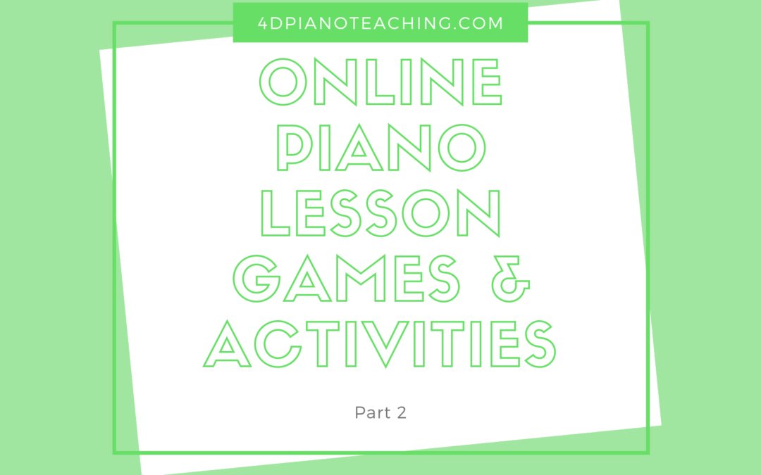 Online Piano Lessons – Part 2