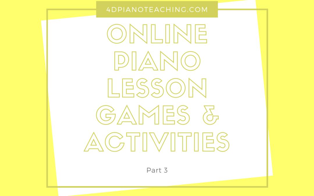 Online Lesson Games & Activities – Part 3