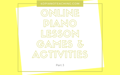 Online Lesson Games & Activities – Part 3